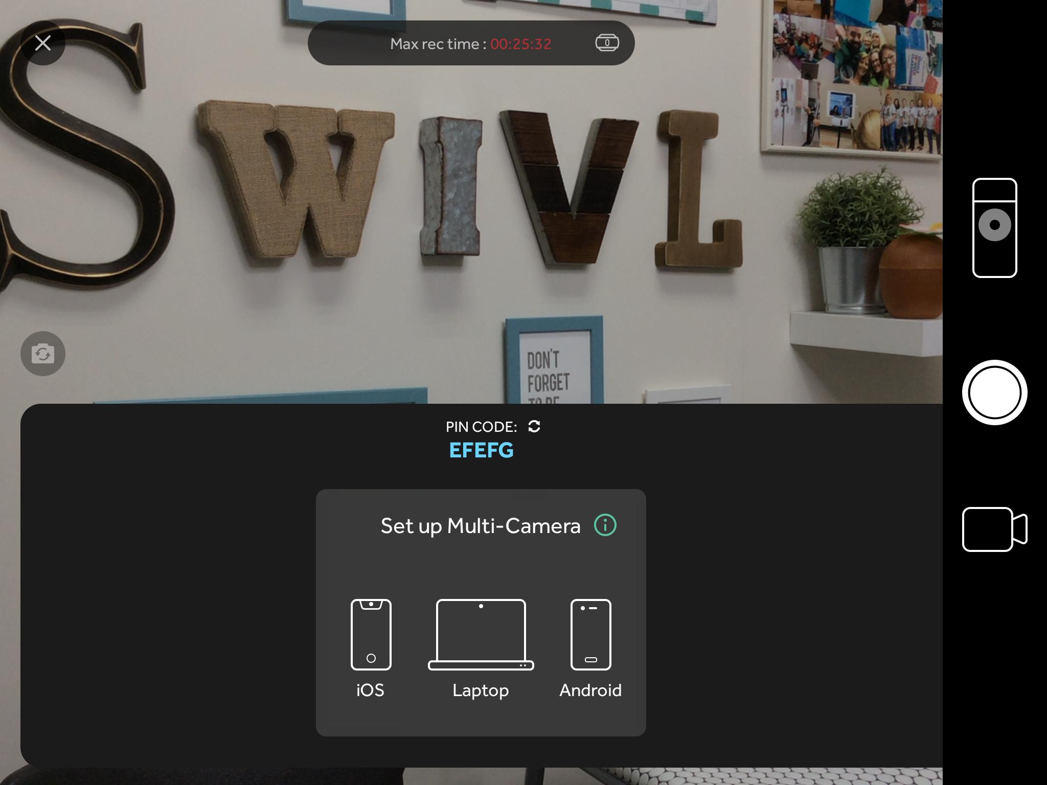 Recording a Multi-Camera Video* – Swivl